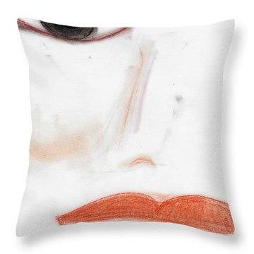 Face Throw Pillow by Vicki Ferrari