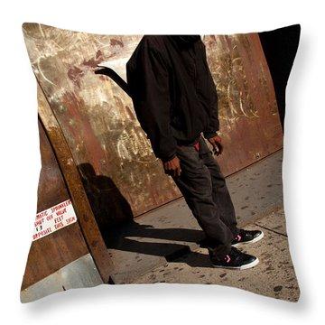 Faceless Throw Pillow by Karol Livote