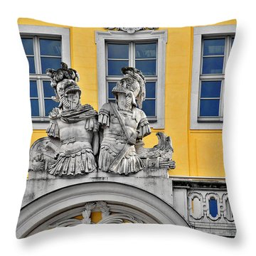 Faces Of Places In Dresden Throw Pillow by Christine Till