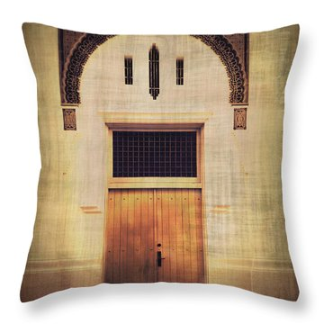 Faded Doorway Throw Pillow by Perry Webster