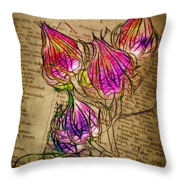 Faerie Caps Throw Pillow by Judi Bagwell