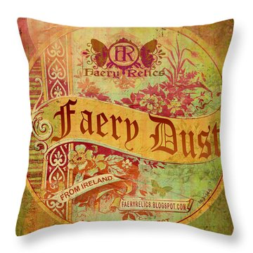 Faery Dust Throw Pillow
