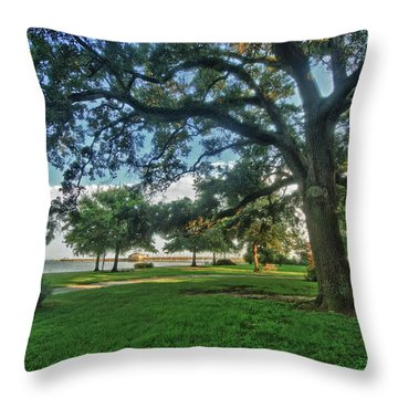 Fairhope Lower Park 4 Throw Pillow by Michael Thomas