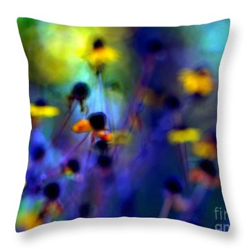 Fairyland Painting Throw Pillow by Andrea Kollo