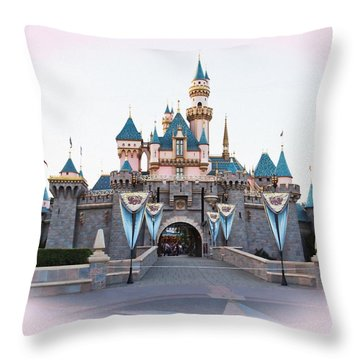 Fairytale Castle Throw Pillow by Heidi Smith