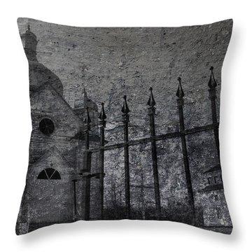 Faith Of Stone  Throw Pillow by Jerry Cordeiro