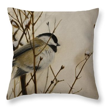 Faithful Winter Friend Throw Pillow