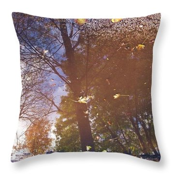 Fall Asphalt Throw Pillow by Anna Villarreal Garbis