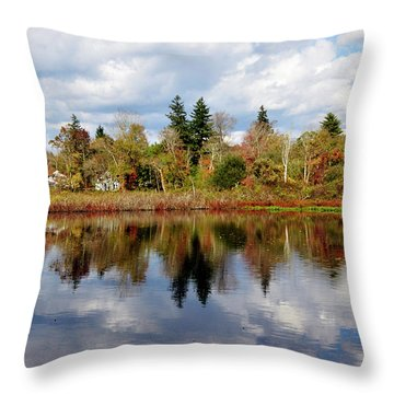 Fall Beginnings Throw Pillow by Joanne Brown
