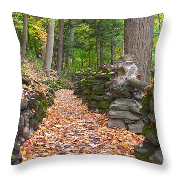 Fall Carpet Throw Pillow