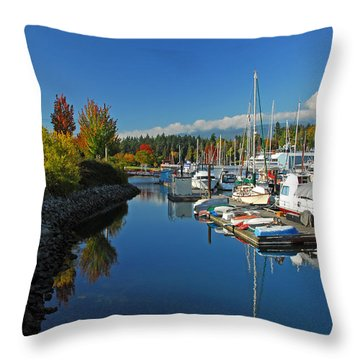 Fall Colors At English Bay Throw Pillow by Lynn Bauer