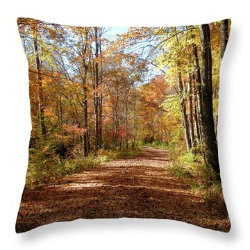 Throw Pillow featuring the photograph Fall Coming On by Paul Mashburn