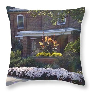 Throw Pillow featuring the photograph Fall Cowles by Joseph Yarbrough