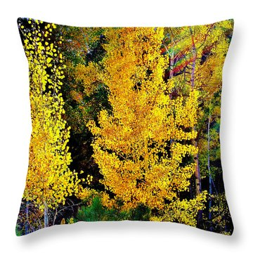 Fall Fantasy Throw Pillow by Ellen Heaverlo