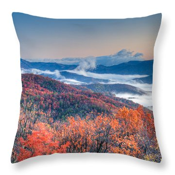 Fall Fog 1 Throw Pillow