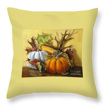 Fall Gatherings Throw Pillow