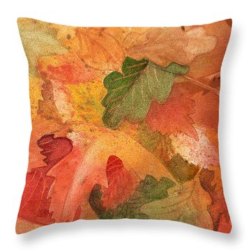 Fall Impressions II Throw Pillow by Irina Sztukowski