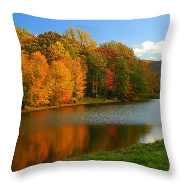 Fall In New York State Throw Pillow by Mark Gilman