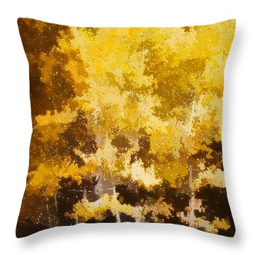 Fall In The Sierra II Throw Pillow