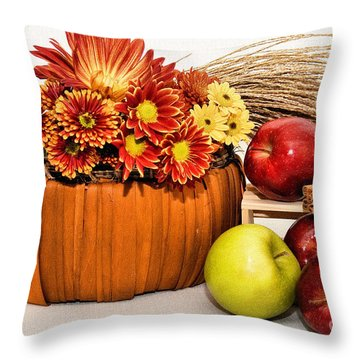 Fall Pleasures Throw Pillow by Susan Smith