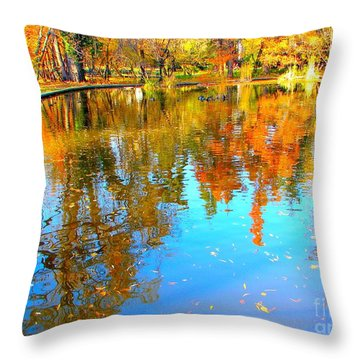 Fall Reflections Throw Pillow by Ana Maria Edulescu