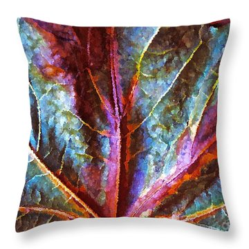 Fall Up Close Throw Pillow by Gwyn Newcombe