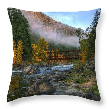 Fall Up The Tumwater Throw Pillow