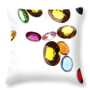 Falling Gems Throw Pillow by Setsiri Silapasuwanchai