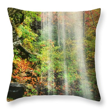 Falling Softly Throw Pillow by Darren Fisher