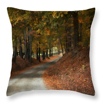 Fall's Fast Arrival Throw Pillow