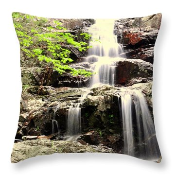 Falls Throw Pillow by Marty Koch