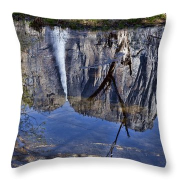 Falls Pool Reflection Throw Pillow by Garry Gay