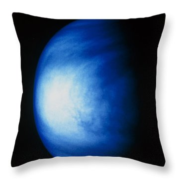 False Colour Image Of Venus Sulphuric Throw Pillow by NASA / Science Source
