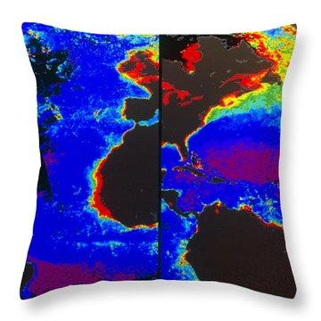 False-colour Satellite Images Throw Pillow