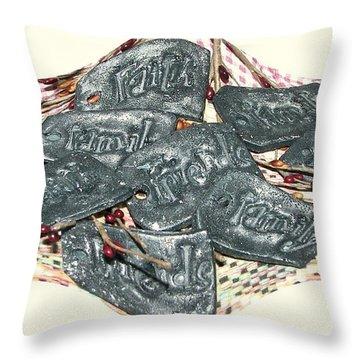 Family Faith Friends Swag Throw Pillow