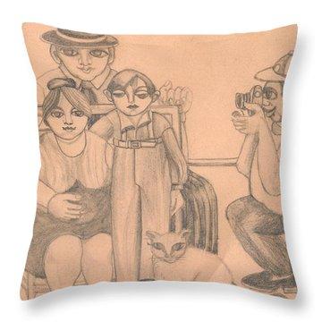Family Photo Throw Pillow by Rachel Hershkovitz