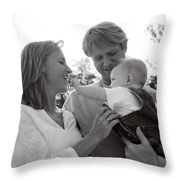 Family Portrait Throw Pillow by Michelle Quance