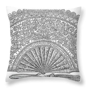 Fan, 1876 Throw Pillow by Granger