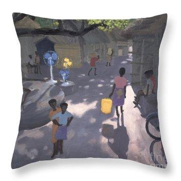 Fan Seller Throw Pillow