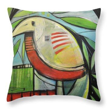 Fancy Bird Throw Pillow by Tim Nyberg