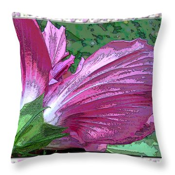 Throw Pillow featuring the digital art Fancy Finish by Debbie Portwood