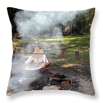 Fanning The Flames Throw Pillow by Marilyn Holkham