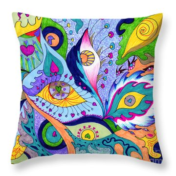Fantas Eyes Throw Pillow