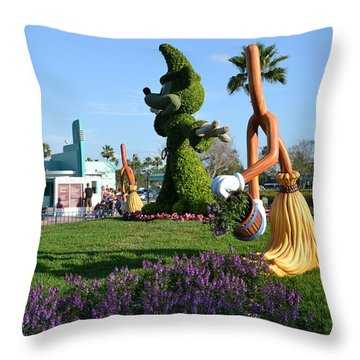 Fantasia In Flowers Throw Pillow