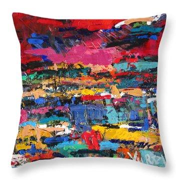 Fantazia Talamone Italy Throw Pillow