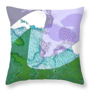 Far Away Mountains Throw Pillow by Mathilde Vhargon