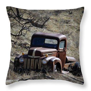 Farm Fresh Ford Throw Pillow by Steve McKinzie