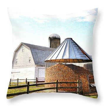 Farm Life Throw Pillow by Todd Hostetter