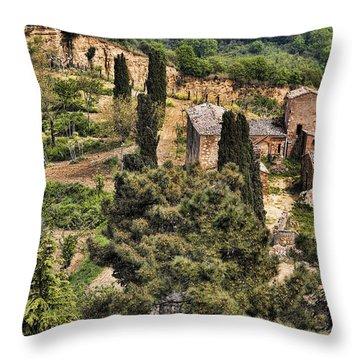 Farm Orvieto Italy Throw Pillow