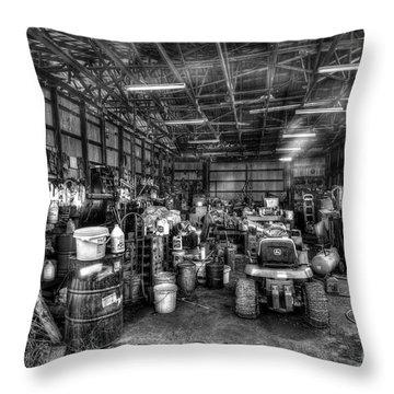 Farmers Workshop Throw Pillow by Dan Friend